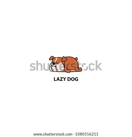 lazy dog  cute bulldog sleeping