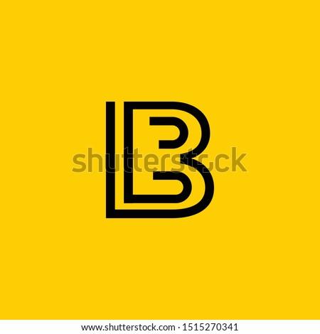 LB or L B letter alphabet logo design in vector format. Stock fotó ©