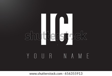 LC Letter Logo With Black and White Letters Negative Space Design.
