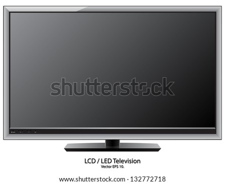LCD LED TV Vector Illustration EPS 10