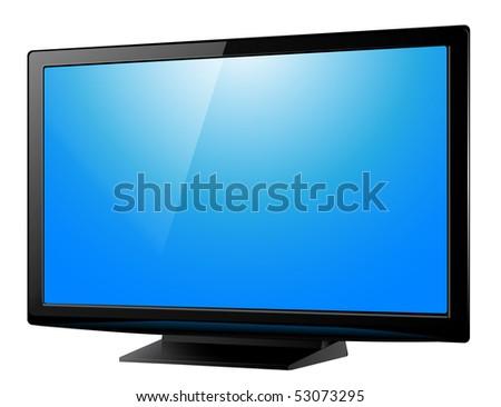 lcd plasma tv, realistic vector illustration. - stock vector