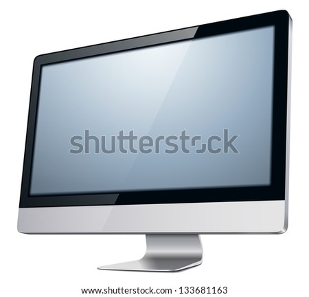 lcd tv monitor  vector