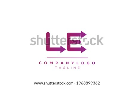 LE initials monogram letter text alphabet logo design Photo stock ©