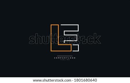 LE Letter Business Logo Design Alphabet Icon Vector Symbol Photo stock ©