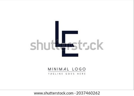 LE OR EL Or L AND E initial minimal monogram letter alphabet logo design symbol Stock fotó ©