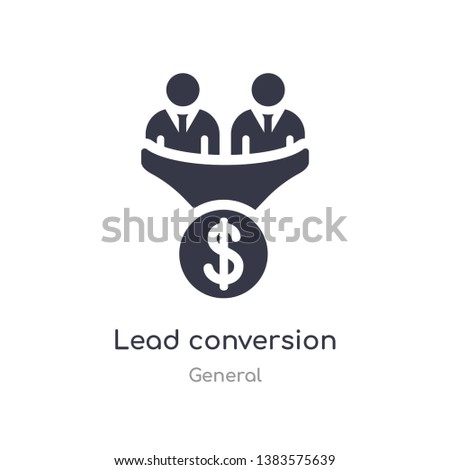 lead conversion icon. isolated lead conversion icon vector illustration from general collection. editable sing symbol can be use for web site and mobile app