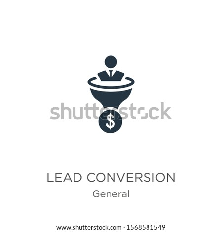 Lead conversion icon vector. Trendy flat lead conversion icon from general collection isolated on white background. Vector illustration can be used for web and mobile graphic design, logo, eps10