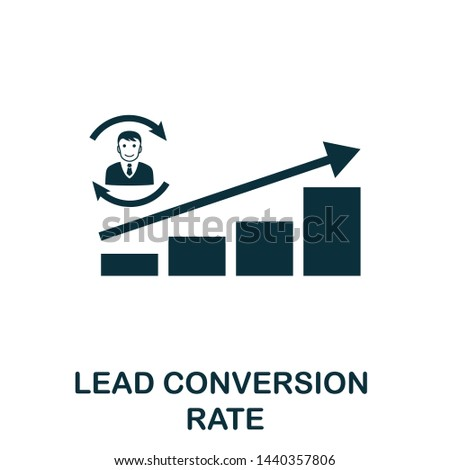 Lead Conversion Rate vector icon illustration. Creative sign from crm icons collection. Filled flat Lead Conversion Rate icon for computer and mobile. Symbol, logo vector graphics.
