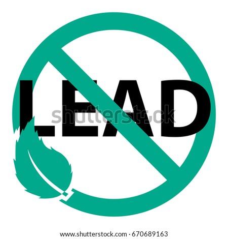 lead free vector icon