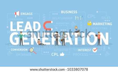 Lead generation concept illustration. Idea of merketing.