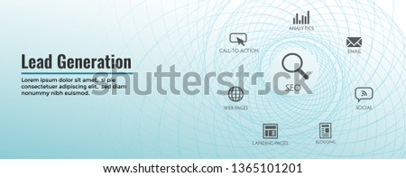 Lead Generation Web Header Banner : Attract leads for target audience to increase revenue growth and sales