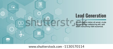 Lead Generation Web Header Banner that Attracts leads for target audience to increase revenue growth and sales