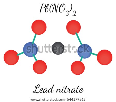 Lead nitrate PbN2O6molecule isolated on white