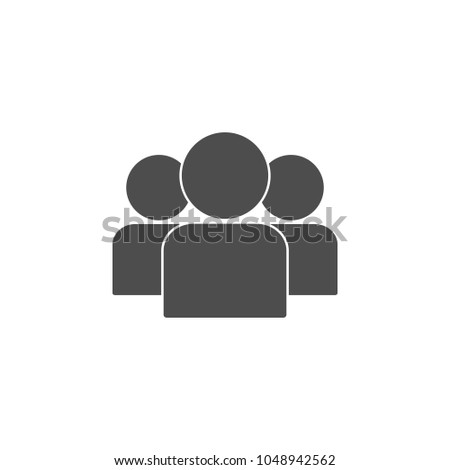 leader among colleagues icon. Element of leader elements illustration. Premium quality graphic design icon. Signs and symbols collection icon for websites, web design, mobile app on white background Stock photo ©