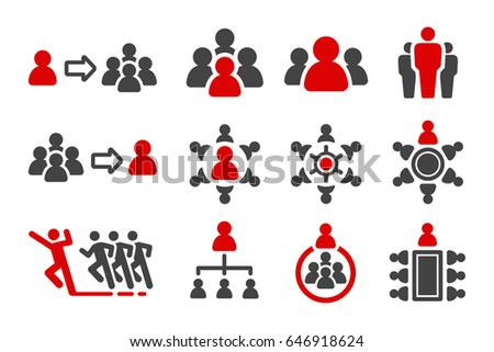 leader,group,organization icon set