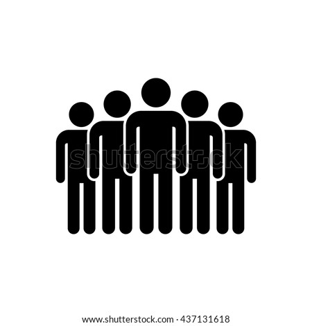 Leader pictogram. Team mans vector icon. Five people. Photo stock ©