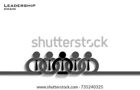 leadership chain concept  vector