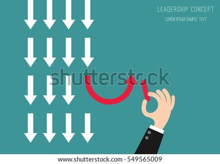 leadership concept business man
