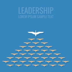 leadership concept flat design
