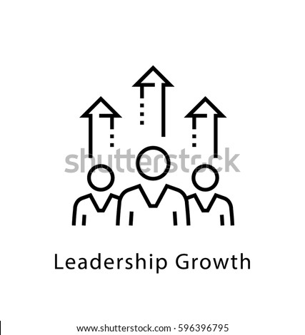 Leadership Growth Vector Line Icon