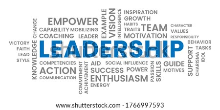 Leadership Text Word Cloud Illustration Foto stock ©