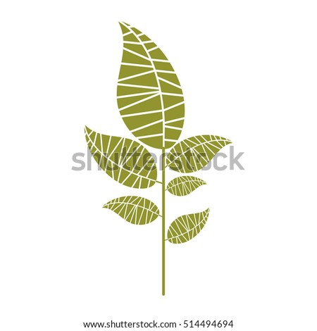 leaf abstract icon image #514494694