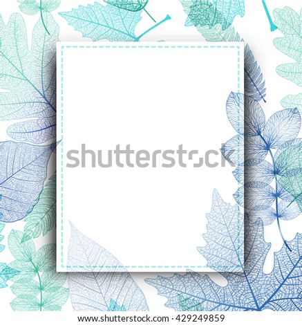 leaf blue background vector
