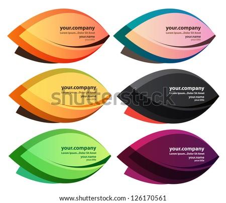 leaf business card   vector