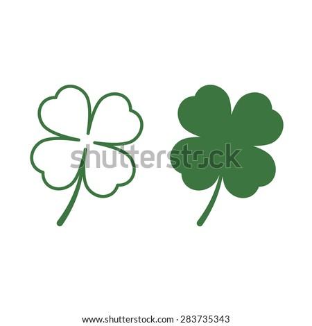 leaf clover icons saint