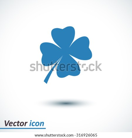 Leaf clover sign icon Saint Patrick's symbol Ecology concept Flat design style