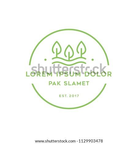 Leaf Forest Logo Design Vector Symbol Nature Badge