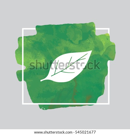 leaf green watercolor