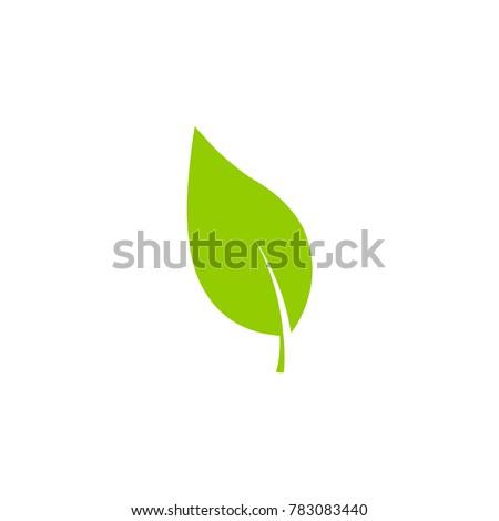 leaf icon green vector