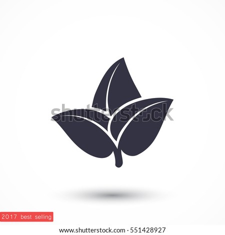 leaf icon vector  eps 10