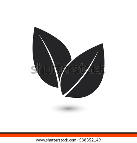 leaf icon  vector illustration