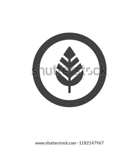 Leaf in a circle vector icon. filled flat sign for mobile concept and web design. Eco, natural solid icon. Symbol, logo illustration. Pixel perfect vector graphics