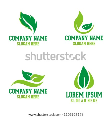 Vector collection of leaf signs,… Stock Photo 119845084 - Avopix com