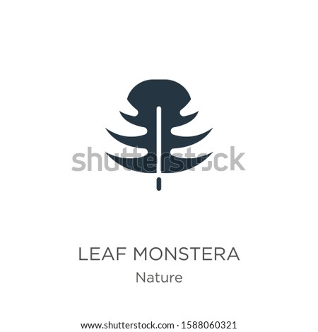 Leaf monstera icon vector. Trendy flat leaf monstera icon from nature collection isolated on white background. Vector illustration can be used for web and mobile graphic design, logo, eps10