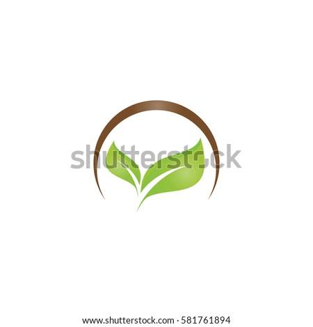 leaf nature concept logo icon