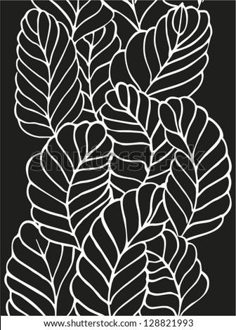 leaf pattern black and white