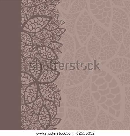 leaf pattern border and