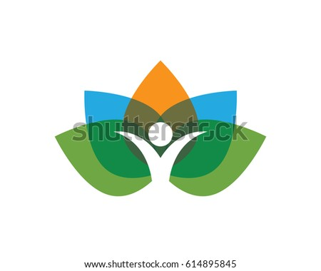 leaf people health nature logo