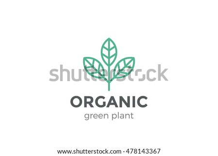 leaf plant abstract logo design