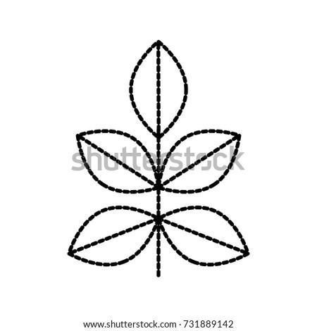 leaf plant garden natural flora icon