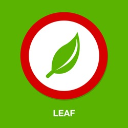 leaf symbol icon. Simple element illustration. leaf concept symbol design. Can be used for web and mobile UI/UX