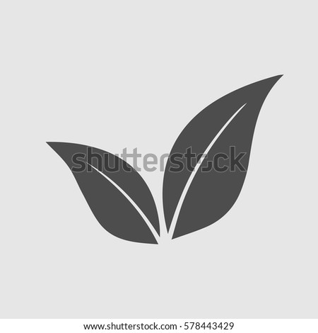leaf vector icon eps 10 eco