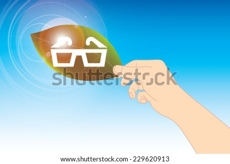 leaf with glasses vector
