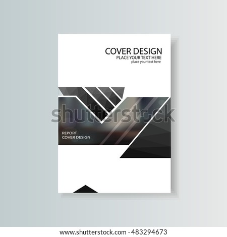Abstract flyer design background  Brochure template  To be used for  magazine cover  business