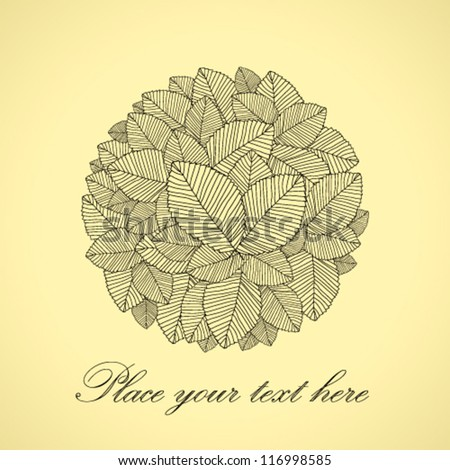 leafs round black - stock vector