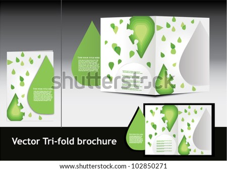 Leafy brochure.vector illustration